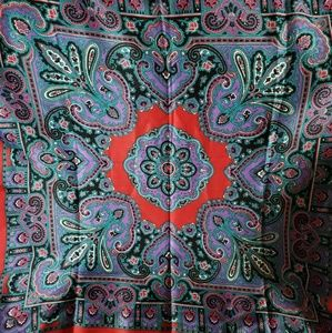 Made In Italy Polyester Fringe Paisley Print Scarf